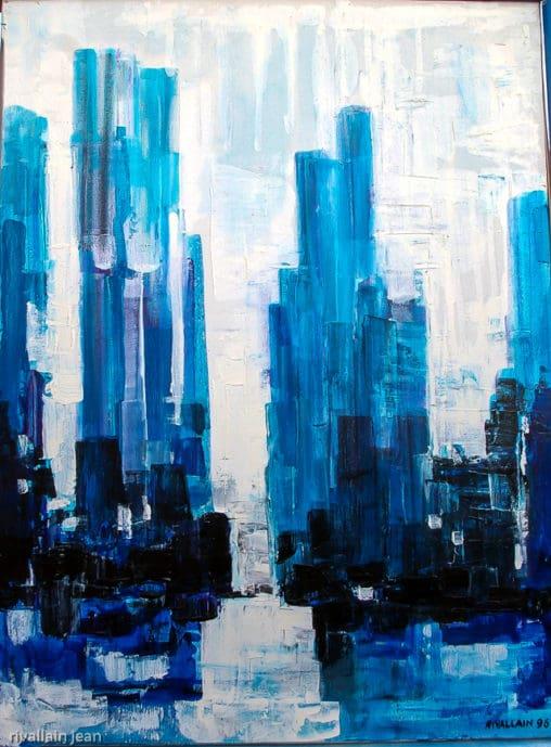 Peinture abstraite ville urbaine