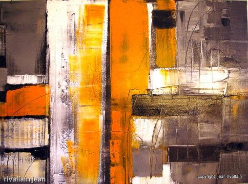 Peinture abstraite métal