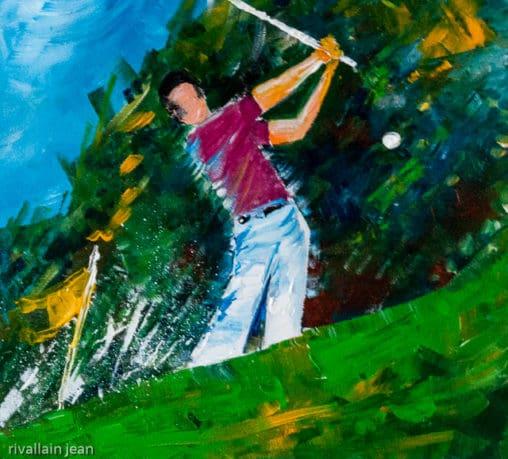 Peinture abstraite Golfeur 2