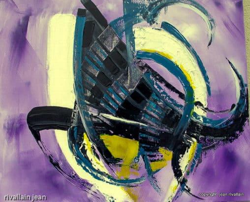 Peinture abstraite Tentacule