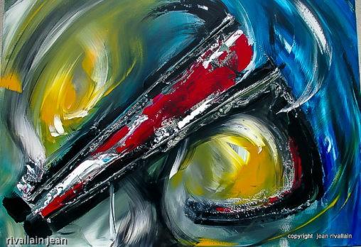 Peinture abstraite couteau