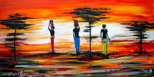 Toile acrylique Afrique