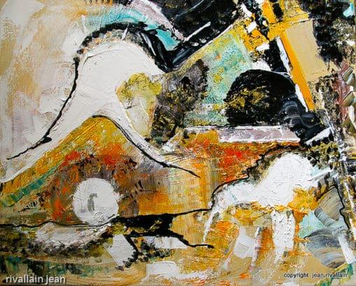 Peinture abstraite mer