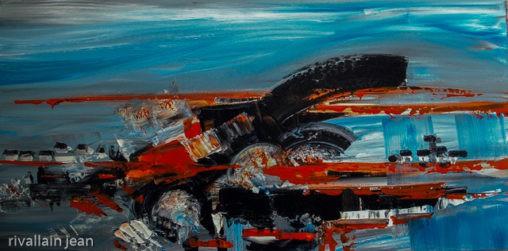 Peinture abstraite paysage