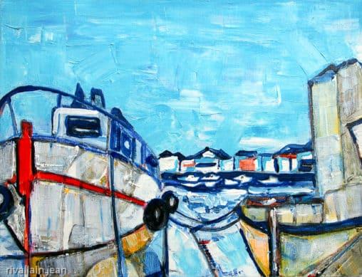 Toile acrylique Port Saint Gilles