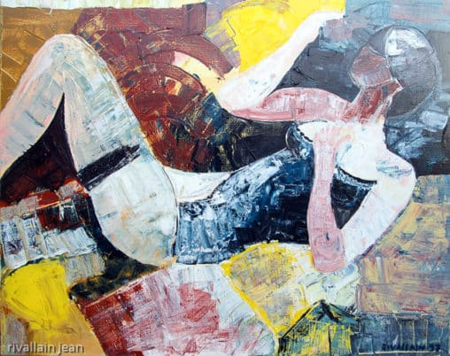Peinture abstraite portait