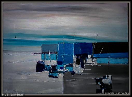 Peinture port et bateau