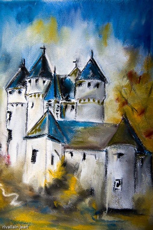 Pastel chateau