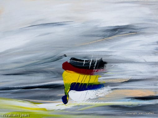 Peinture abstraite grise