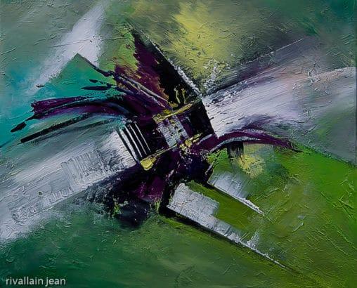 Peinture abstraite verte