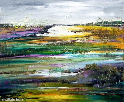 Peinture abstraite paysage nature