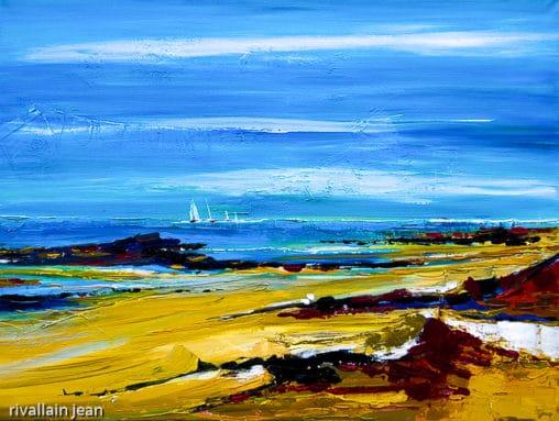 Peinture abtraite plage