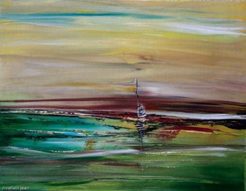 Peinture abstraite avec relief